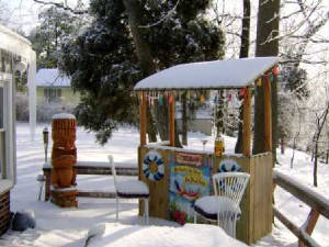 Build A Tiki Bar To Withstand The Winter!